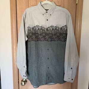 Woolrich L / S Button Down Forest Mountain Print L